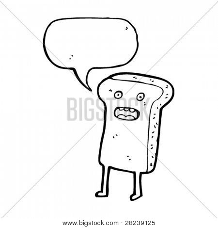 talking cartoon toast