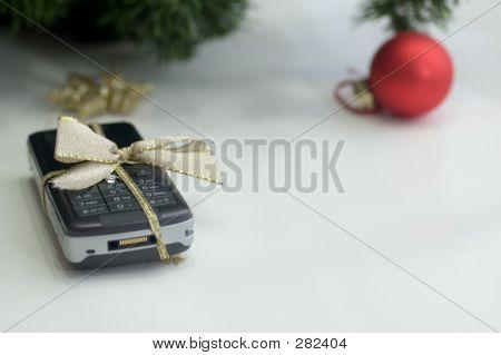Cell Phone And Christmas Ball