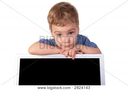 Little Girl With Monitor