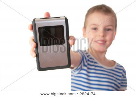 Boy With Gadget