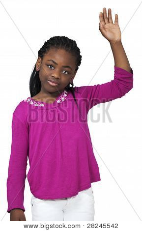 Young Girl Waving