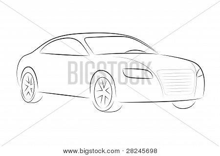 Cartoon silhouette of a car