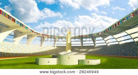 Stadion met Podium