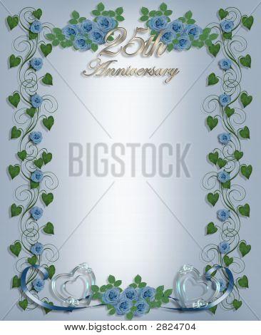 25Th Wedding Anniversary Invitation Template Stock photo
