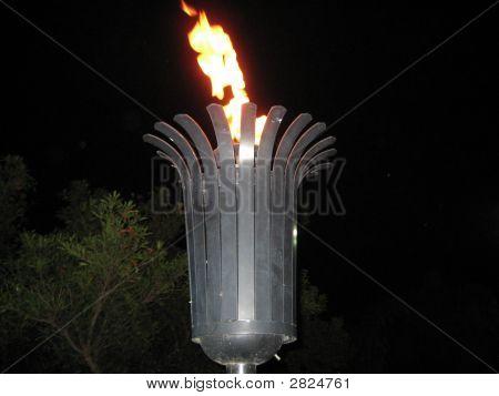 Flaming Tiki Torch