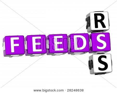 3D-Feeds Rss-Kreuzworträtsel