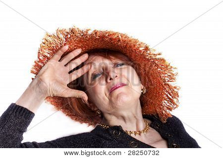 Senior Woman Saluting
