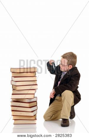 Young Boy On Books