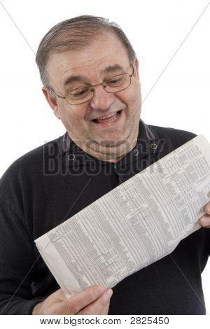 Senior Reads Newspaper
