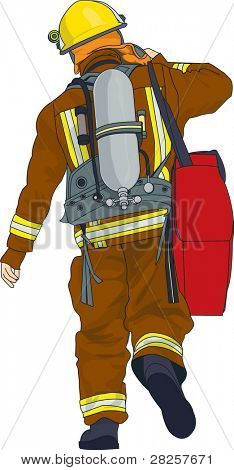 The Brave Firefighter