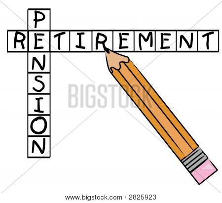 Pencil Doing Crossword Pension Retirement