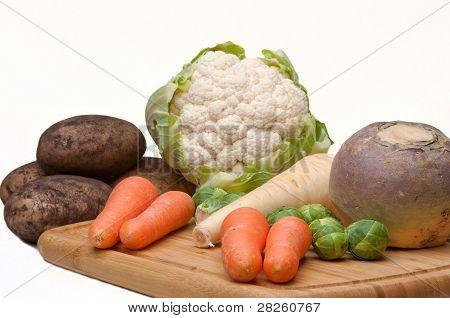 Couve-flor, batatas & cenouras.