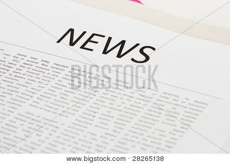 papel da notícia