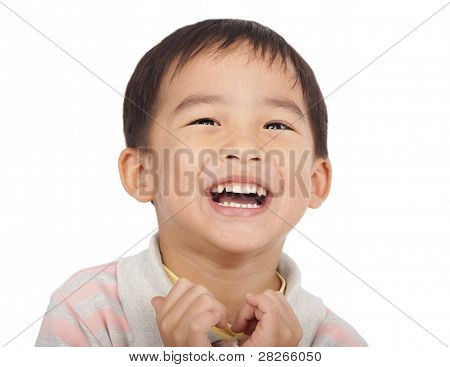 happy asian kid isolated