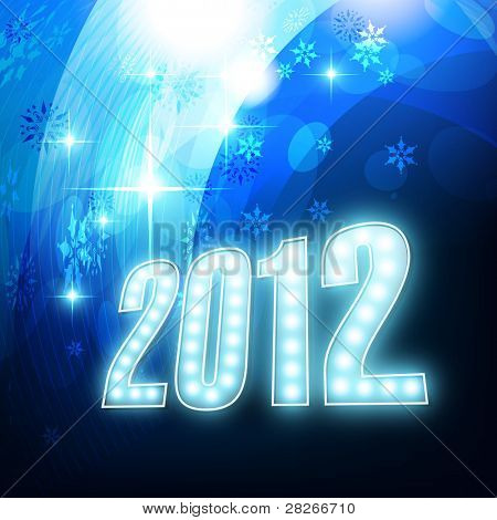 beautiful shiny blue new year design