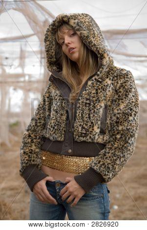 Fashion Girl In A Field