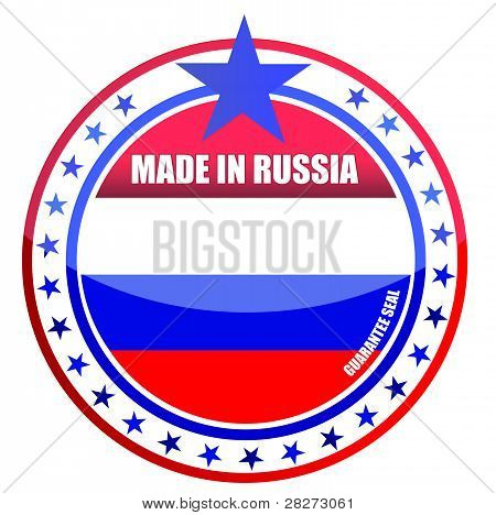 made in russia illustration design seal over white
