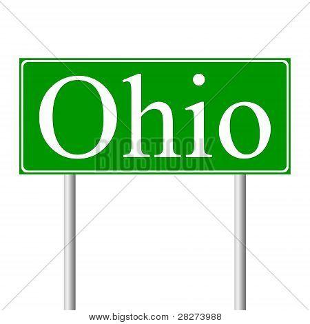 Ohio Grüne Schild