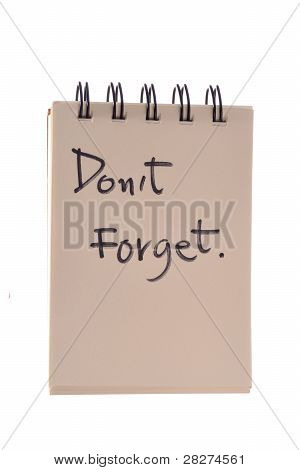 Don't Forget Note