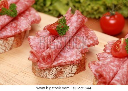 Fingerfood With Salami