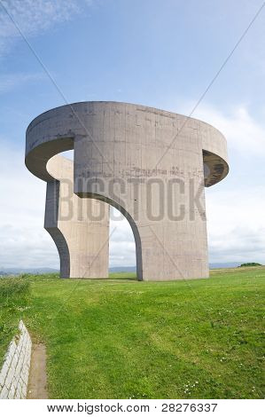 Seite Denkmal in gijon