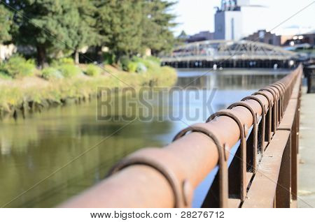 Fence And River