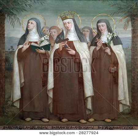 Bl. Archangela Girlani, Frances d'Amboise and Joan of Toulouse, Carmelite Saints, The Church Stella Maris, Haifa, Israel