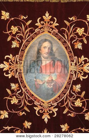 Jesus, Golden embroidered Church vestments