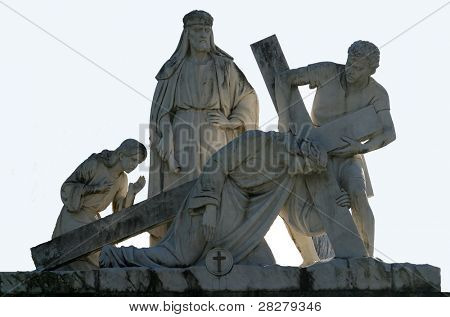 3rd Station of the Cross, Jesus falls the first time