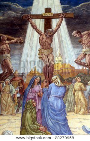 Crucifixion. Jesus dies on the cross.