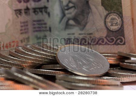 Closeup on a 1 rupee