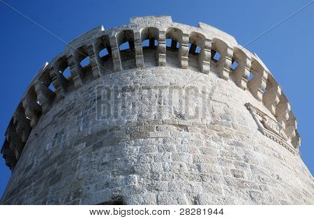 Stone fort in Korcula, Croatia