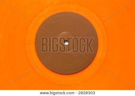 Orange Vinyl Music Record