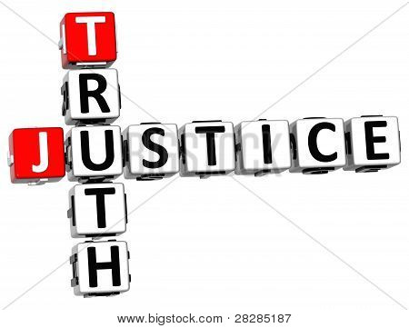 3D Justice Truth Crossword