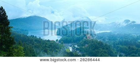 Cloudburst Above Neuschwanstein Castle In Bavaria