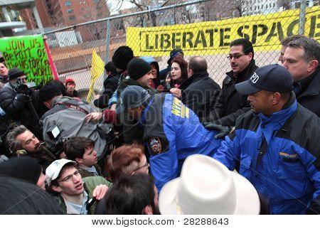Arresting Sitdown protestors