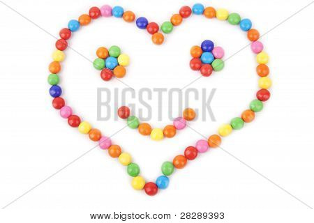 Heart Made Of Colorful Candy