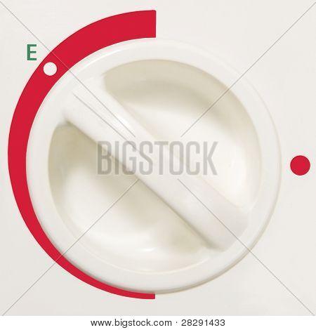 Thermostat In Saving Economode, Green Energy Saving Concept, Macro Closeup