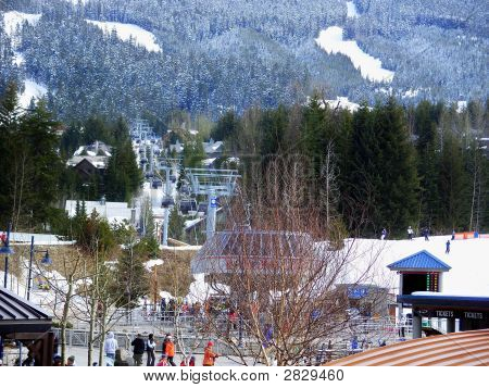 Ski Resort At Whistler Mountain