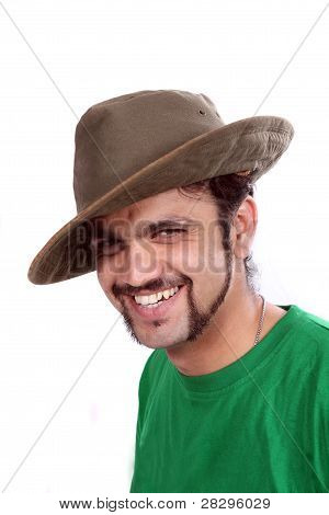 Indian Wearing Hat