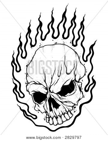 Flaming Motorcycle Coloring Page