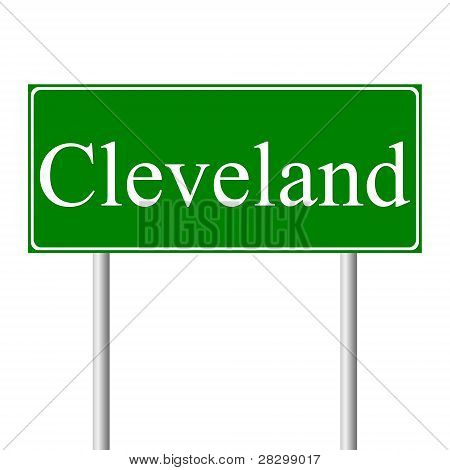 Cleveland green road sign