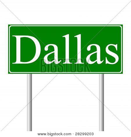 Dallas green road sign