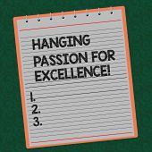 Word Writing Text High Quality Passion For Excellence. Business Concept For Excellent Job Great Succ poster