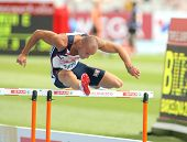 BARCELONA, SPAIN - JULY 29: Andy Turner of Great Britain competes on the 110m Hurdles event during t