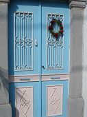 Greece Blue Door.
