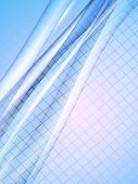 Vector Blurred Lines. Eps10 With Transparency And Mesh Gradient. Abstract Composition With Curve Lin poster