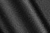 White Dots On Black Background. Frequent Halftone Vector Texture. Contrast Dotwork Gradient For Vint poster