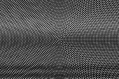 White Dots On Black Background. Contrast Halftone Vector Texture. Horizontal Dotwork Gradient. Monoc poster
