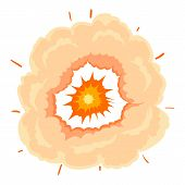 Heavy Explosion Icon. Cartoon Illustration Of Heavy Explosion Icon For Web On White Background poster